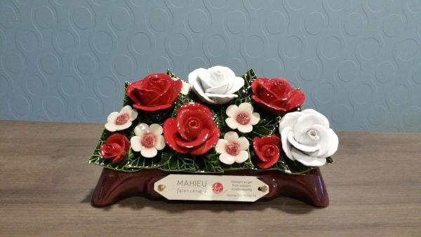 Maison Guérin Nos produits Céramique en porcelaine, Couronne de fleurs